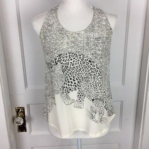 Joie 100% Silk Cheetah Print Tank Top Size XS